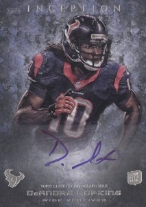 2013 Topps Inception Football Rookie Autographs 105 DeAndre Hopkins 213x300 Image