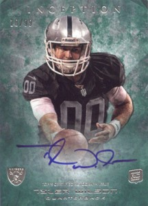 2013 Topps Inception Football Rookie Autographs 108 Tyler Wilson 99 216x300 Image