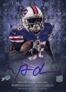 2013 Topps Inception Football Rookie Autographs 133 Marquise Goodwin 217x300 Image