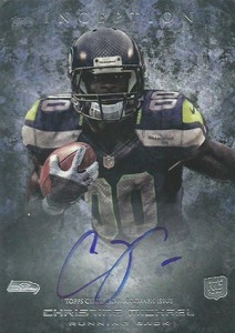 2013 Topps Inception Football Rookie Autographs 139 Christine Michael 212x300 Image