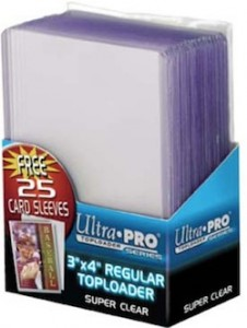 Ultra Pro Toploader regular with card sleeves 226x300 Image