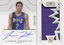 2012 13 Panini National Treasures Rookie Autographed Memorabilia 109 Jimmer Fredette 260x183 Image