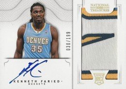 2012 13 Panini National Treasures Rookie Autographed Memorabilia 120 Kenneth Faried 260x184 Image