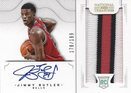 2012 13 Panini National Treasures Rookie Autographed Memorabilia 127 Jimmy Butler 260x185 Image