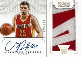 2012 13 Panini National Treasures Rookie Autographed Memorabilia 129 Chandler Parsons 260x184 Image