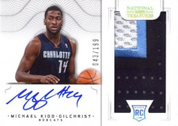 2012 13 Panini National Treasures Rookie Autographed Memorabilia 152 Michael Kidd Gilchrist 260x184 Image