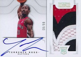2012 13 Panini National Treasures Rookie Autographed Memorabilia 158 Terrence Ross 260x184 Image