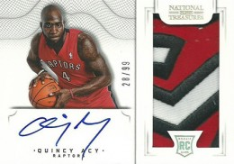 2012 13 Panini National Treasures Rookie Autographed Memorabilia 182 Quincy Acy 260x182 Image