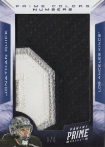 2012 13 Panini Prime Hockey Colors Numbers Jonathan Quick 215x300 Image