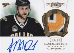 2012 13 Panini Prime Hockey Dominion Autograph Patch Lane MacDermid 260x185 Image
