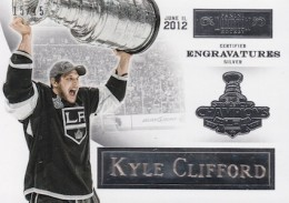 2012 13 Panini Prime Hockey Dominion Engravatures Kings Kyle Clifford 260x183 Image