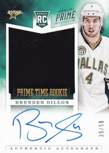 2012 13 Panini Prime Hockey Prime Time Rookie Autographs Brenden Dillon  214x300 Image