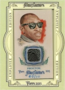 2013 Allen Ginter Baseball Employee Edition Relic Terry Proctor 215x300 Image