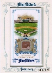 2013 Allen Ginter Baseball Oddity Relics Wrigley Field 214x300 Image