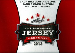 2013 Leaf Autographed Jersey Football Box