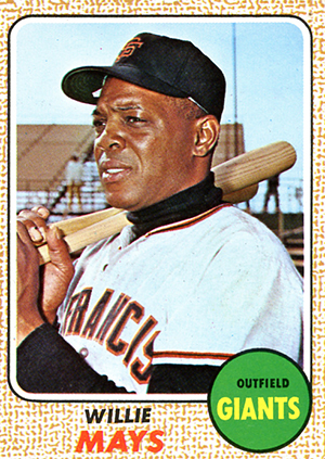 1968 Topps Willie Mays