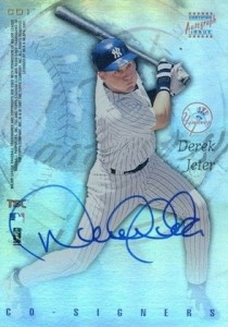 1997 Stadium Club Co Signers CO1 Andy PettitteDerek Jeter Autograph 210x300 Image