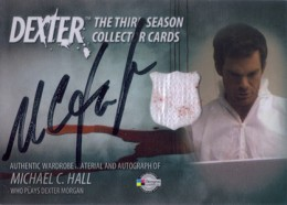2010 Breygent Dexter Season 3 Autographed Costume Card Michael C. Hall as Dexter Morgan (Black)