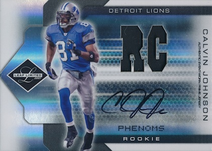 2007 Limited Calvin Johnson RC 308 Autographed Jersey  Image