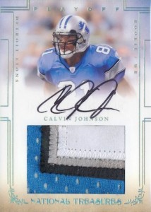 2007 National Treasures Calvin Johnson RC 107 Autograph Jersey  214x300 Image