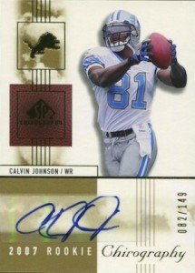 2007 SP Chirography Calvin Johnson RC 103 Autograph 215x300 Image