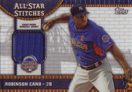 2013 Topps Chrome Update All Star Stitches Robinson Cano Image