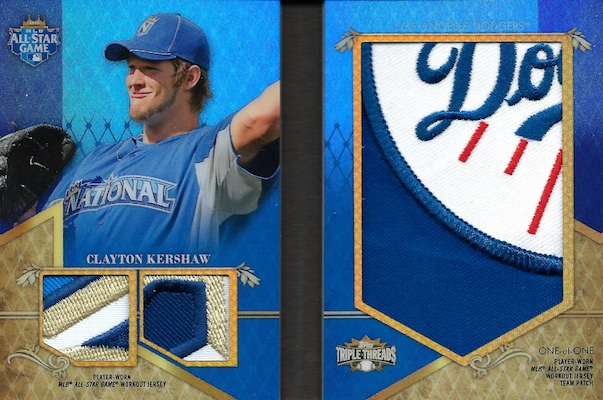 2013 Topps Triple Threads Baseball All Star Pactch Clayton Kershaw Image