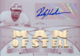 2013 Topps Triple Threads Baseball Autographed Jersey White Whale Plate Rickey Henderson 260x184 Image
