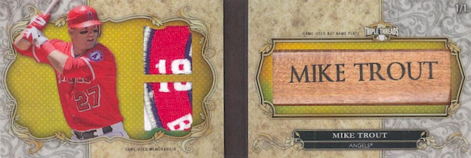 2013 Topps Triple Threads Baseball Bat Name Plates Mike Trout Image