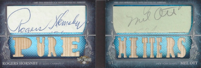 2013 Topps Triple Threads Baseball Cut Above Signatures Ott Hornsby Image