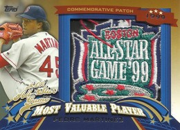 2013 Topps Update Series Baseball All Star Game MVP Patches ASMVP 13 Pedro Martinez 260x187 Image
