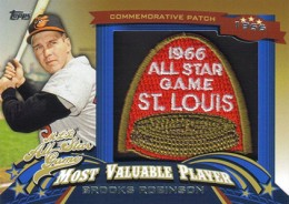 2013 Topps Update Series Baseball All Star Game MVP Patches ASMVP 3 Brooks Robinson 260x184 Image