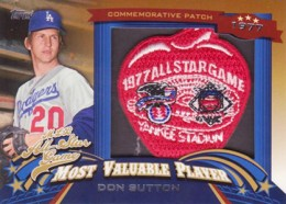 2013 Topps Update Series Baseball All Star Game MVP Patches ASMVP 8 Don Sutton 260x186 Image