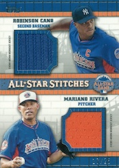 2013 Topps Update Series Baseball All Star Stitches Duals Image