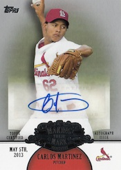 2013 Topps Update Series Baseball Making Their Mark Autographs Image