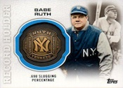 2013 Topps Update Series Baseball Record Holder Rings Babe Ruth Image