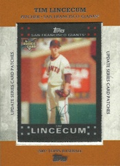 2013 Topps Update Series Baseball Rookie Card Patches Tim Lincecum Image