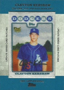 2013 Topps Update Series Rookie Card Patches TRCP 14 Clayton Kershaw 213x300 Image