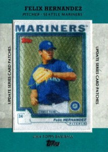 2013 Topps Update Series Rookie Card Patches TRCP 8 Felix Hernandez 213x300 Image