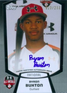 2011 Under Armour All America Autograph Byron Buxton 214x300 Image
