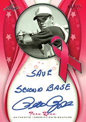 2013 Leaf Sports Heroes Pink Ribbon Inscriptions Pete Rose Image