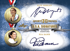 2013 Leaf Sports Heroes USA Signatures Alex Morgan Mia Hamm Image