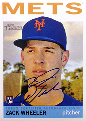 2013 Topps Heritage High Number Baseball Zach Wheeler Autograph Image