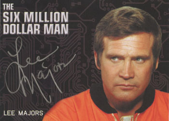 2013 Rittenhouse Complete Bionic Collection Silver Autographs Lee Majors Image