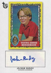 2013 Topps 75th Anniversary Autographs Joshua Rudoy 211x300 Image