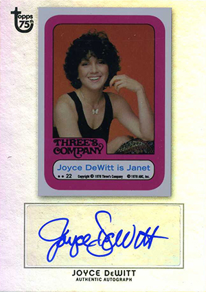 2013 Topps 75th Anniversary Autographs Joyce DeWitt Foil Image