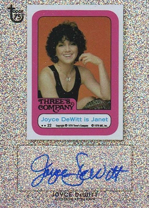 2013 Topps 75th Anniversary Autographs Joyce DeWitt Sparkle Image