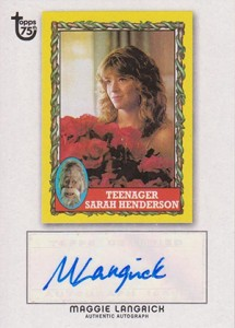 2013 Topps 75th Anniversary Autographs Maggie Langrick 215x300 Image