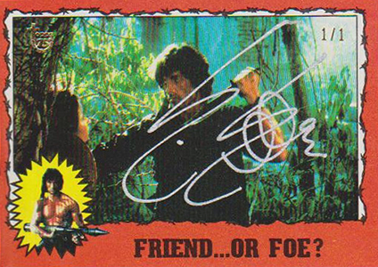 2013 Topps 75th Anniversary Buyback Autographs Sylvester Stallone Rambo II Image