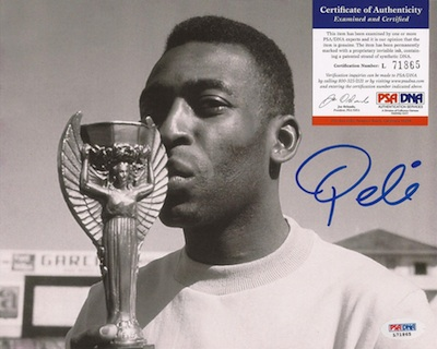 Pelé Signed Photograph Image